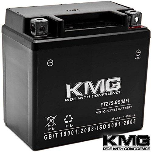 Kmg ytz7s battery for yamaha 250 yfm25r raptor r 2008 for Yamaha motorcycle batteries