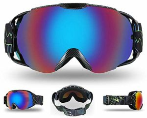 2bdfbe079c1 Adult Ski Goggles Winter Snow Snowboard Goggles Ventilated Anti-Fog  Spherical Dual Lens for Snowmobile Skiing Skating